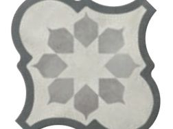 Lyon Blume White 26,5x26,5 - Imitation tile cement tiles, Tiles