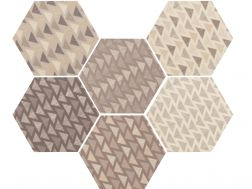 Art Deco 1 Hexagonalr Mate 17,5x20  - Floor tile hexagonal, imitation cement tiles, Porcelain.