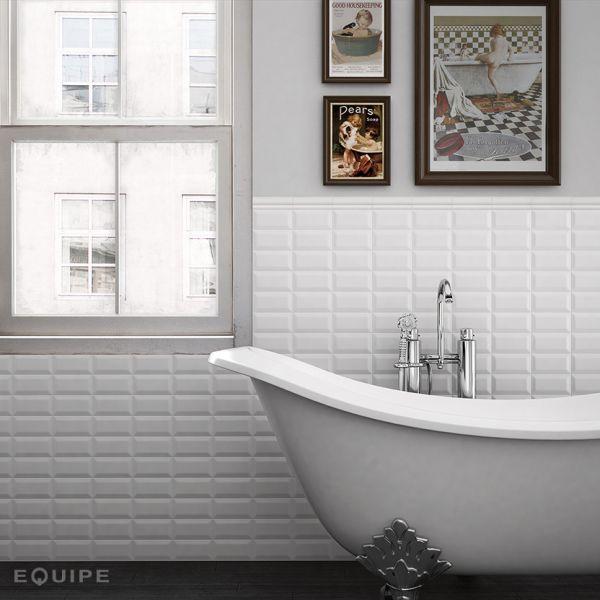 metro blanco matt 10x10 5x15 5x20 75x15 75x30 - Faience Metro