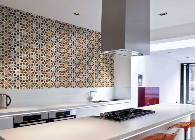 Floor and wall tiling. Oriental - Mairena Brown Base 14x28 cm ...