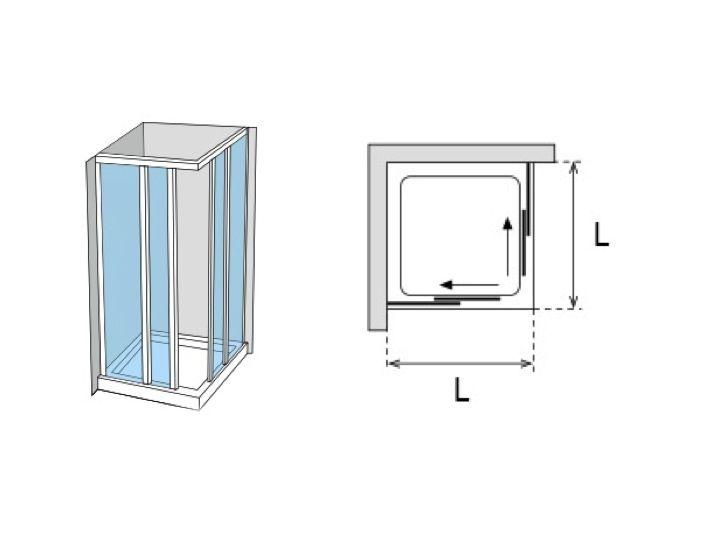 Sliding shower door width 66 to 93 cm- height 195 cm AU-  sc 1 th 194 & Shower enclosures Accessoires - Sliding shower door width 66 to 93 ...