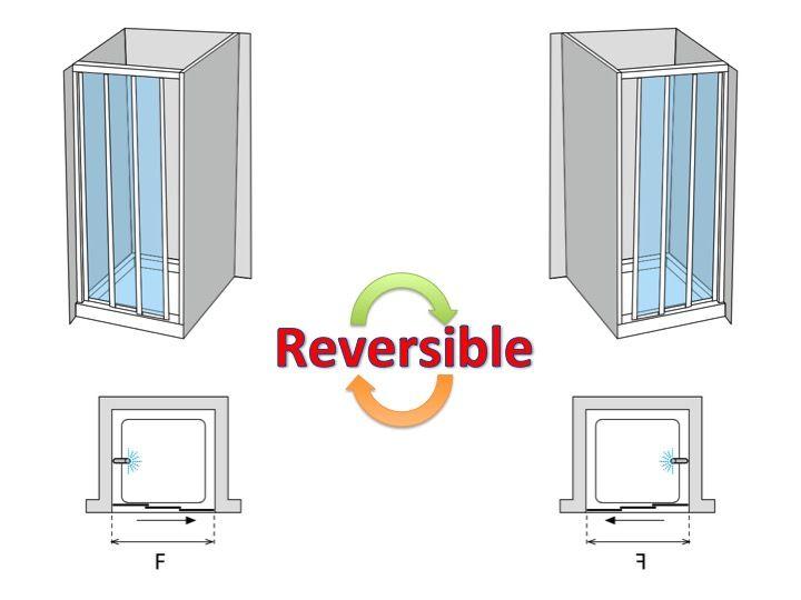 Superb Shower Door 3 Sliding Panels Width From 148 To 188 Cm, Height 195 Cm,