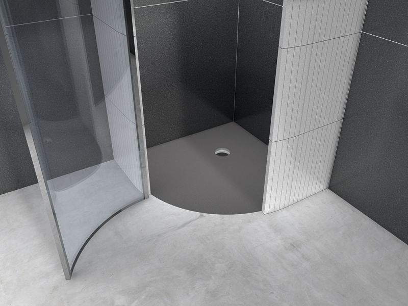 Shower tray A carreler Wedi - Tiled shower tray, quadrant, outflow ...