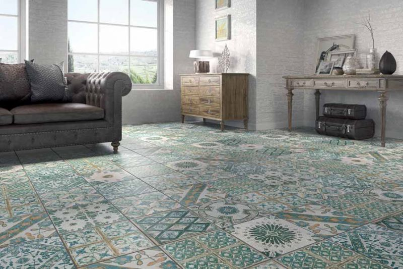 Floor and wall tiling. Aspect Cx. Ciment - Retro Blanco 4 33x33 cm ...
