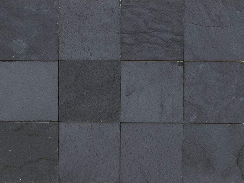 floor and wall tiling terrasse tiles and natural stone plate 10x10 cm piedras black. Black Bedroom Furniture Sets. Home Design Ideas
