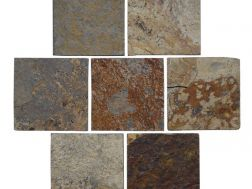 Tiles and natural stone plate 10x10 cm, Piedras iris multicolore