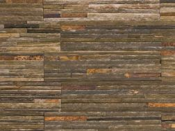 Natural stone wall cladding 18x35cm, Zeta Catarata Multicolore