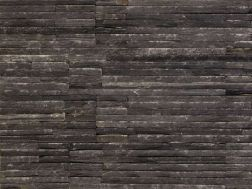 Natural stone wall cladding 18x35cm, Zeta Catarata black