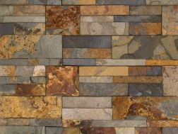 natural stone wall cladding 18x35cm, Zeta Multicolor