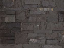 Natural stone wall cladding 18x35cm, Zeta black