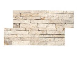 Natural stone wall cladding 18x35cm, Zeta Indo Beige
