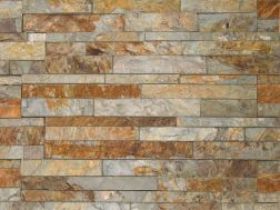 Natural stone wall cladding 18x50cm, Laja Multicolor