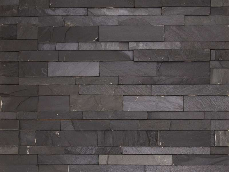 floor and wall tiling parement pierre natural stone wall cladding 18x50cm laja black. Black Bedroom Furniture Sets. Home Design Ideas