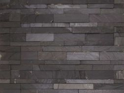 Natural stone wall cladding 18x50cm, Laja black