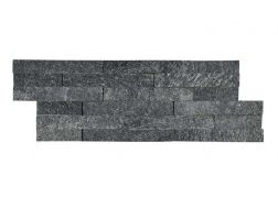 Natural stone wall cladding 18x50cm, Laja Gobi black
