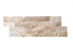 Natural stone wall cladding 18x50cm, Laja Travertine