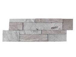 Natural stone wall cladding 18x50cm, Laja Titanium