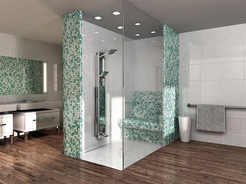Shower tray A carreler Wedi - Shower tray tile, square-shaped linear ...
