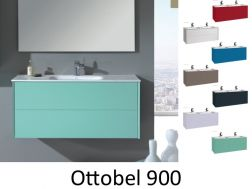 Bathroom cabinet, suspended, one basin 90 cm - OTTOBEL 900