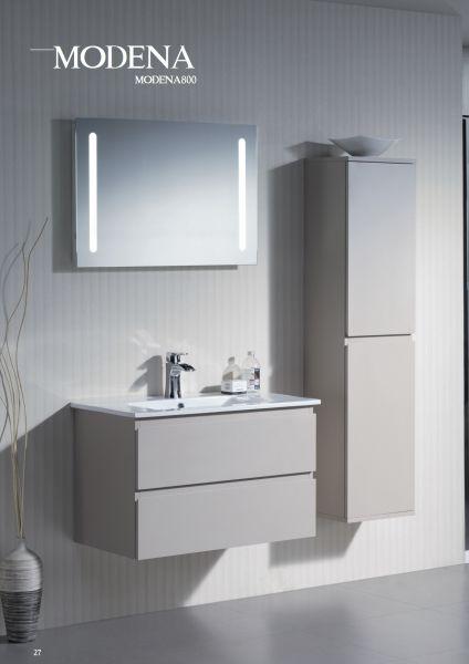 hanging bathroom cabinet with 80 cm ceramic bowl modena 800