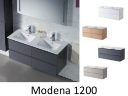 Bathroom cabinet, double basins, suspended, 120 cm - MODENA 1200