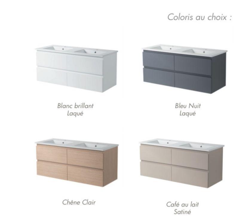 p 146075 3 bathroom cabinet double basins suspended 120 cm   modena 1200 Résultat Supérieur 16 Beau Double Vasque 120 Photos 2018 Hiw6