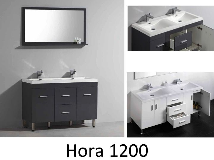 p 146216 3 vanity unit on legs with double basin of 120 cm white or gray brllant   hora 1200 Résultat Supérieur 15 Beau Meuble Vasque Salle De Bain 120 Cm Galerie 2018 Phe2