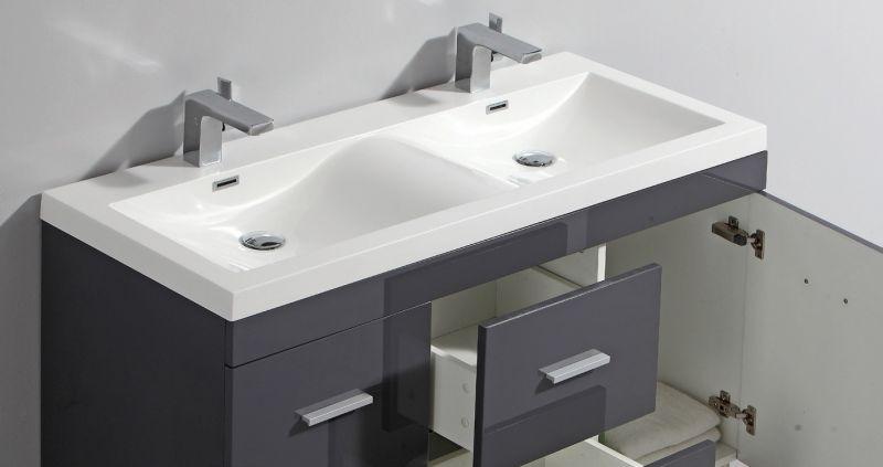 p 146217 3 vanity unit on legs with double basin of 120 cm white or gray brllant   hora 1200 Résultat Supérieur 16 Beau Meuble Double Vasque 140 Cm Image 2018 Hht5