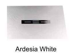 Shower tray 120 cm, resin small size & extra flat, Ardesia white color
