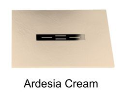Shower tray 120 cm, resin small size & extra flat, Ardesia cream color