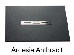 Shower tray 150 cm, resin small size & extra flat, Ardesia anthracite color