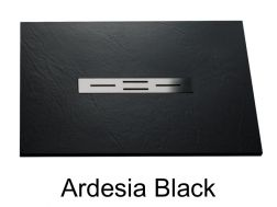 Shower tray 180 cm, resin small size & extra flat, Ardesia black color