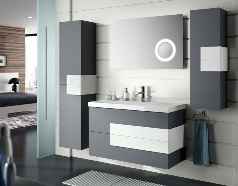 meuble salle de bain 80 cm suspendu moka 80