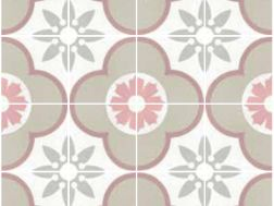 Art Deco 3 Pastel 20x20, Imitation tile cement tiles, Tiles
