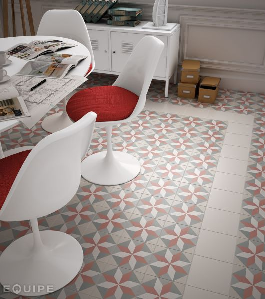 Floor and wall tiling aspect cx ciment art deco 5 for Carrelage 20x20