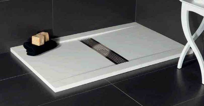 Shower tray Longueur 100 - Shower tray 100 cm, resin, desing ...