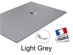Shower tray ,155 cm Resin, Light grey color
