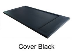 Shower tray 120 cm resin, effekt stone Cover, with resin cache  black