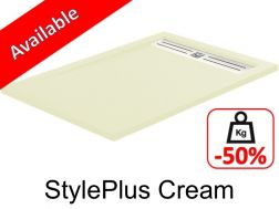 Shower tray ,120 cm Resin, stylplus cream color
