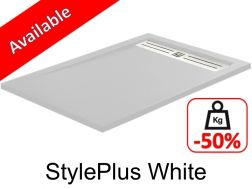 Shower tray ,130 cm Resin, stylplus white color