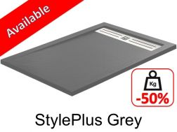 Shower tray ,160 cm Resin, stylplus grey color