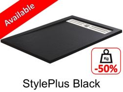 Shower tray ,160 cm Resin, stylplus black color