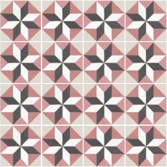 Floor and wall tiling aspect cx ciment art deco 6 for Carrelage 20x20