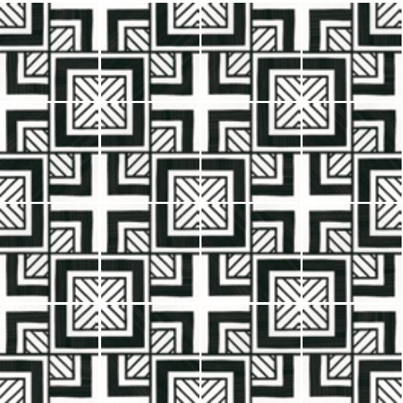 Exceptionnel Floor and wall tiling. C. Ciment imitation - Art Deco 6 B&W 20x20  VH76