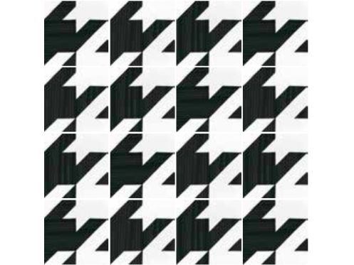 Art Deco 9 B&W 20x20, Imitation tile cement tiles, Tiles