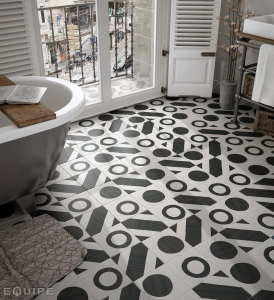 Floor and wall tiling c ciment imitation art deco 2 b for Floor and decor tile class