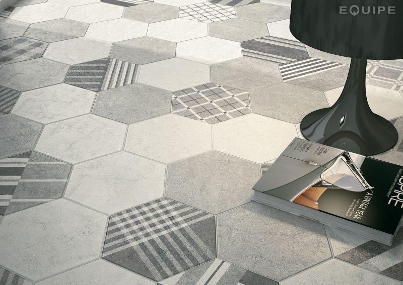 floor and wall tiling aspect cx ciment hexagonal cement grey mate 17 5x20 imitation tile. Black Bedroom Furniture Sets. Home Design Ideas
