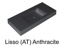 Wash Basins width 200 cm resin Stil Lisso anthracite