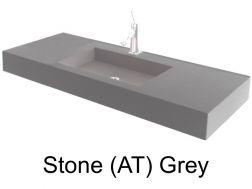 wash basins width 70 cm resin stone grey - 100 Cm Plan Vasque