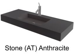 Wash Basins width 140 cm resin Stone Anthracite